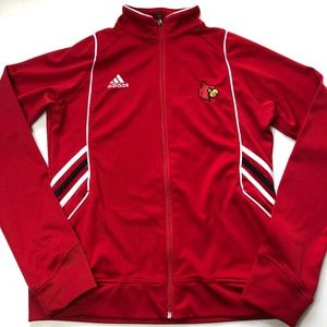 Adidas U of Louisville Cardinals Red Jacket Zip M